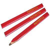 Carpenter's Pencils - Red / Medium (Pack 3)