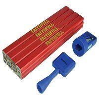 Carpenter's Pencil Kit Red / Medium (Pack 12)