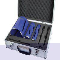 Diamond Core Drill Kit & Case Set of 7