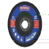 Abrasive Jumbo Flap Disc 100mm Coarse