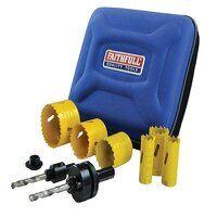 Universal Varipitch Holesaw Electrician's Kit, 9 Piece 16-51mm