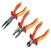 VDE Pliers Set with Pouch, 3 Piece