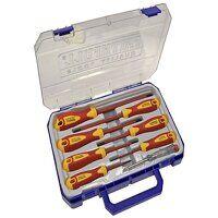VDE Soft Grip Screwdriver Set (Case), 8 ...