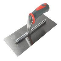 Notched Trowel V 3mm Soft Grip Handle 11 x 4.1/2in