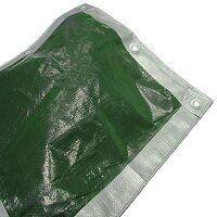 Heavy-Duty Tarpaulin Green/Silver 5.4 x 5.4m (18 x...