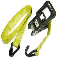 Ratchet Tie-Downs J-Hook 5m x 32mm Breaking Strain 1320kg/daN 2 Piece