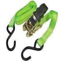 Ratchet Tie-Downs S-Hook 5m x 25mm Breaking Strain 600kg/daN 2 Piece