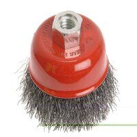 Wire Cup Brush 80mm M14x2, 0.30mm Steel Wire