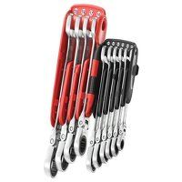 467BF.JP10PB Ratchet Combination Flexi Wrench Set, 10 Piece