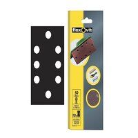 1/3 Sanding Sheets Perforated Fine 120 Grit (Pack 10)
