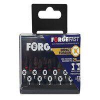 ForgeFast Pozidriv Compatible Impact Bit Set, 12 P...