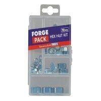 Hexagon Nut Kit ForgePack 70 Piece