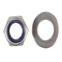 Nyloc Nuts & Washers A2 Stainless Steel M12 ForgePack 6