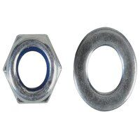 Nyloc Nuts & Washers Zinc Plated M5 ForgePack 40