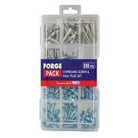 Screw & Wall Plug Kit ForgePack 280 Piece