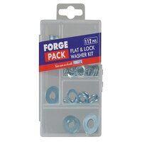 Flat & Lock Washer Kit, 112 Piece