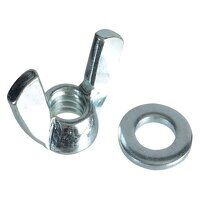 Wing Nut & Washers ZP M10 Forge Pack 6