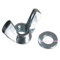 Wing Nut & Washers ZP M5 Forge Pack 12