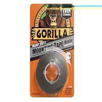 Gorilla Heavy-Duty Mounting Tape 25.4mm x 1.52m Black