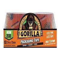 Gorilla Packaging Tape Refill 72mm x 27m  (Pack 2)