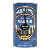 Direct to Rust Smooth Finish Metal Paint Black 5 L...