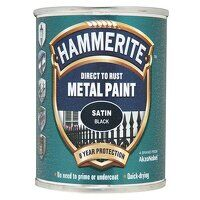Direct to Rust Satin Finish Metal Paint Black 250m...