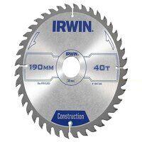 Construction Circular Saw Blade 190 x 30mm x 40T A...