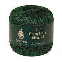 Jute Twine Bleached Green 150m (250g)