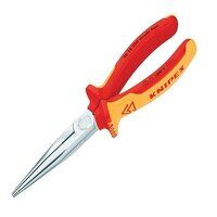 VDE Long Snipe Nose Side Cutting Pliers 200mm