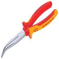 VDE Long Bent Snipe Nose Side Cutting Pliers 200mm