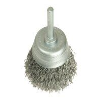 DIY Cup Brush with Shank 50mm, 0.35 Steel Wire