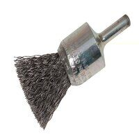 End Brush with Shank 23/22 x 25mm, 0.30 Steel Wire