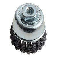 Knot Cup Brush 65mm M14x2.0, 0.35 Steel Wire