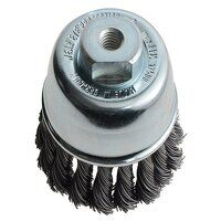 Knot Cup Brush 65mm M10x1.25, 0.50 Steel Wire