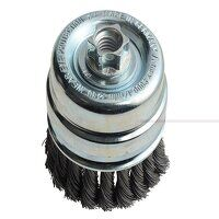 Knot Cup Brush 80mm M14x2, 0.50 Steel Wire*