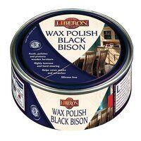 Wax Polish Black Bison Medium Mahogany 500ml