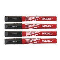 "INKZALLâ""¢ Ultra Fine Tip Pen Black (Pack 4)"