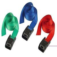 Lashing Strap with Metal Buckle, Coloured 2.5m 150kg (Pack 2)