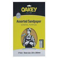 Glasspaper Sanding Sheets 230 x 280mm Assorted (10...