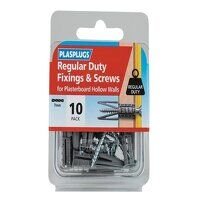 Regular-Duty Fixings & Screws Pack of 10