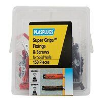 """Super Gripsâ""""¢ Fixings & Screws Kit for Solid Wall..."""