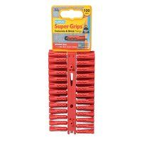 """SRP 502 Solid Wall Super Gripsâ""""¢ Fixings Red (100)"""