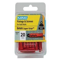 """Solid Wall Super Gripsâ""""¢ Fixings Red & Screws Pac..."""