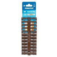 Brown UNO® Plugs 7 x 30mm (Card 48)