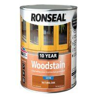 10 Year Woodstain Natural Oak 2.5 litre