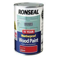 10 Year Weatherproof Wood Paint Royal Red Gloss 75...