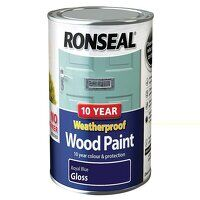 10 Year Weatherproof Wood Paint Royal Blue Gloss 7...