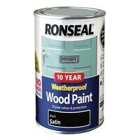 10 Year Weatherproof Wood Paint Black Sa...