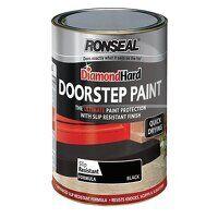 Diamond Hard Doorstep Paint Black 250ml