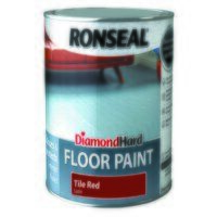 Diamond Hard Floor Paint Satin Tile Red 2.5 litre